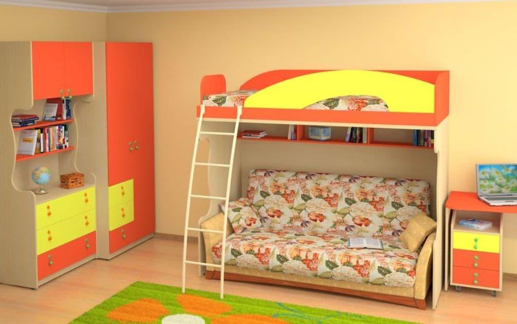 Купить комплект мебели для детской комнаты с диваном в москве - Лучшие стеллажи здесь