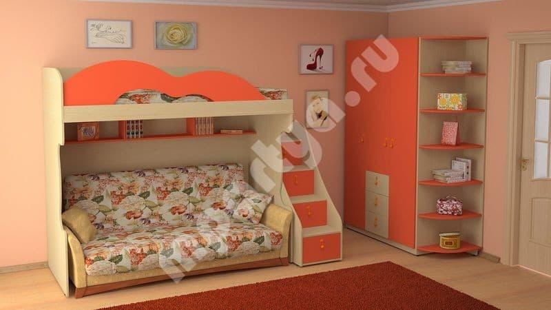 диван трансформер в двухъярусную кровать в московскобл с доставкой